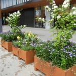 長野駅善光寺口駅前広場装飾用パレット花壇植栽制作